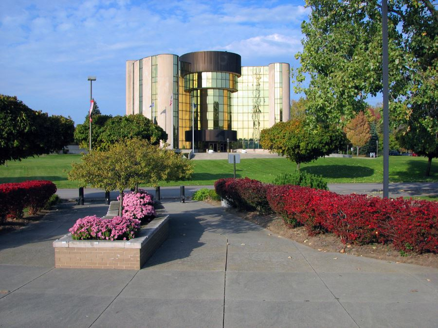 Flowers in Front of Livonia City Hall